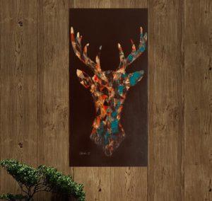 C E R F : Peinture acrylique sur toile 3D, technique de peinture au pinceau et couteau (effet texturé), finition mat et glossy. Format 30x60cm. Disponible à la vente. Prix : 150€