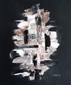 Q U A R T Z : Peinture acrylique sur toile. Format 46x55cm. Disponible à la vente. Prix : 100€